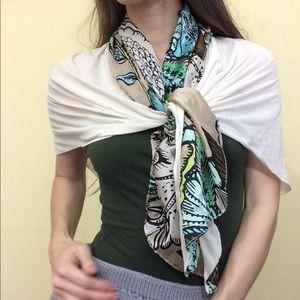 Echo Accessories - Paisley Silk Color Block Scarf